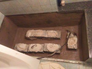 豊中市 ホテルお風呂床下防水工事